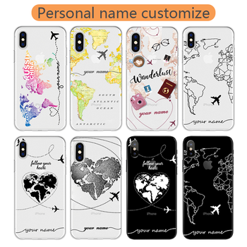 world-travel-diy-gift-for-iphone-12-case-custom-11-pro-max-8-plus-xr-xs-7-plus-clear-cover-for-xiaomi-redmi-note-8-pro-mi-10-k30