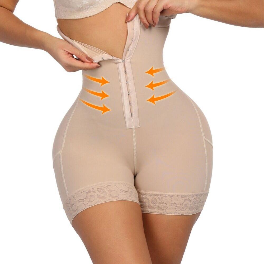Lover Beauty Plus Shapewear Workout Waist Trainer Corset Butt Lifter Tummy Control Plus Size Booty Lift Pulling Underwear Shaper