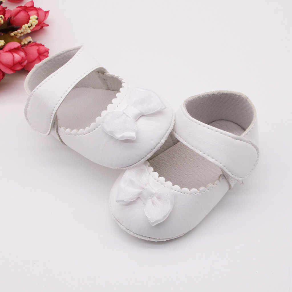 Pu deri kız Bebek ayakkabıları yumuşak taban yenidoğan Bebek ayakkabısı ilk yürüyüşe kaymaz Bebek kız ayakkabı Bebek Ayakkabi Kawaii çizmeler