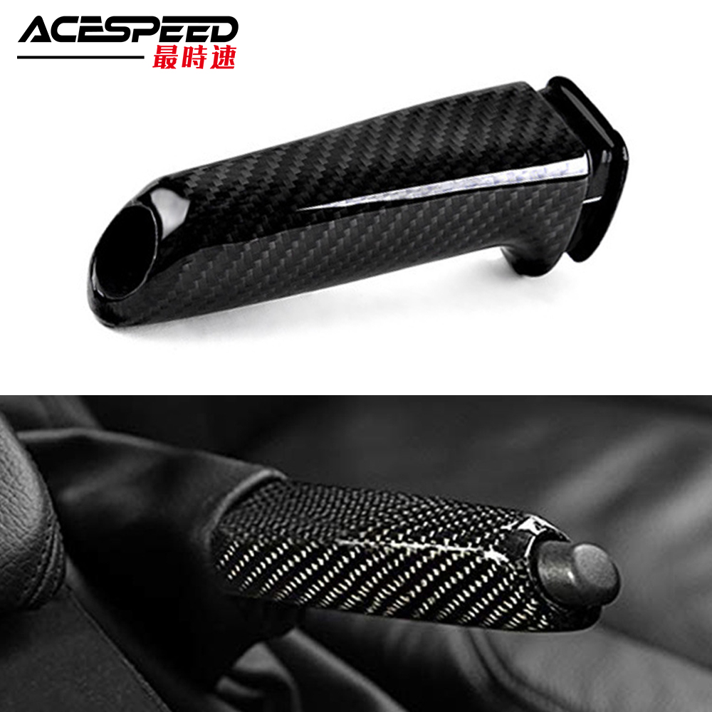 Universal Carbon Fiber Car Handbrake Grips Cover Interior For BMW 1 2 3 4 Series E46 E90 E92 E60 E39 F30 F34 F10 F20 Accessories