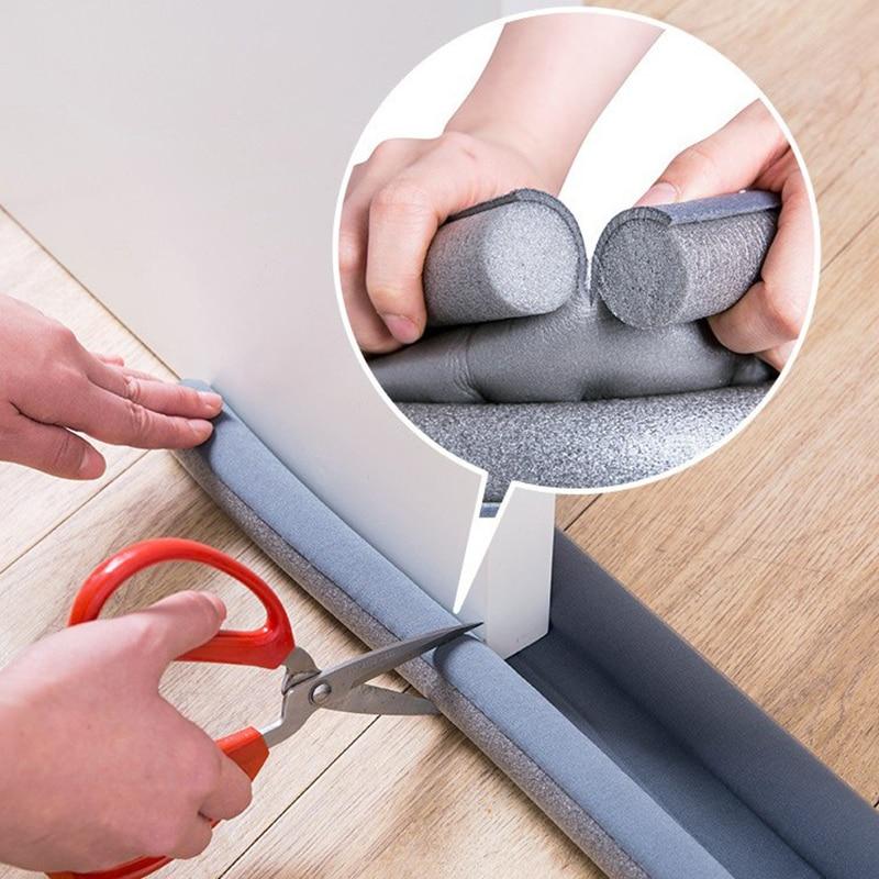 Tira de vedação da parte inferior da porta flexível à prova de som redução de ruído sob o rascunho da porta rolha janela à prova de poeira tira meteorológica