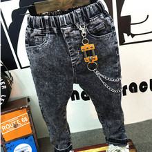 Fashion Boys Jeans Children's Denim Trousers for Spring & Fall 2-7Years Kids black gray Designed Pants free shipping