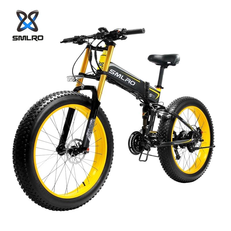 SMLRO S11 S11F S11-PLUS электрических велосипедов 1000W 48V 26 дюймов велосипеда, фара для электровелосипеда в горный велосипед Байк, способный преодолева...