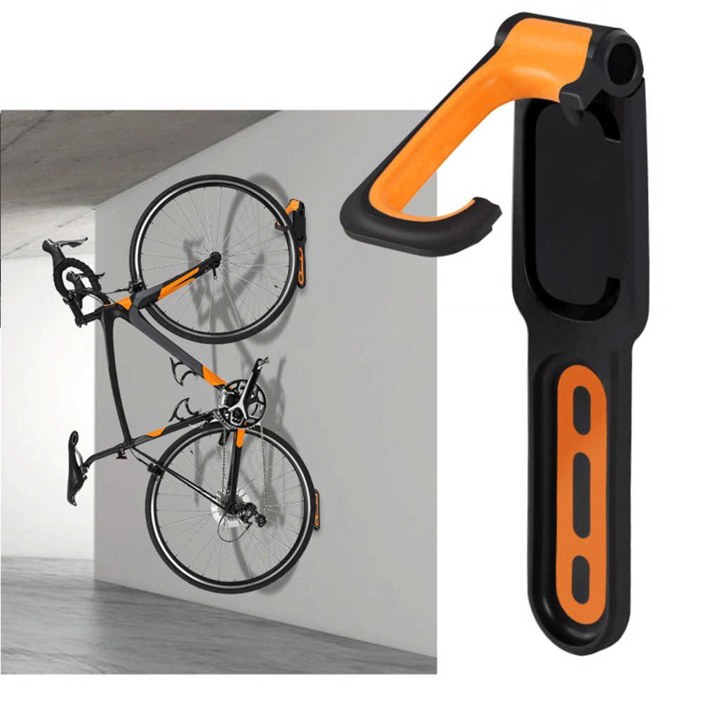 Hebilla de aparcamiento para bicicleta Gancho De Montaje En Pared Para Bicicleta soporte de almacenamiento vertical con tornillos F/ácil de Instalar Soporte Bici bicicleta de monta/ña