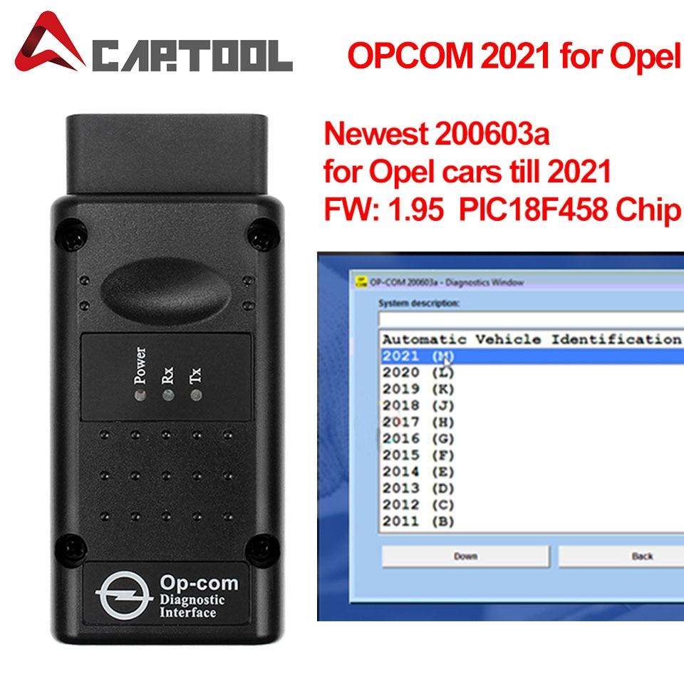 OPCOM 2021 200603a с чипом PIC18F458 FTDI obd2 автомобильный диагностический сканер Инструменты для Opel OPCAN шина может быть обновлена