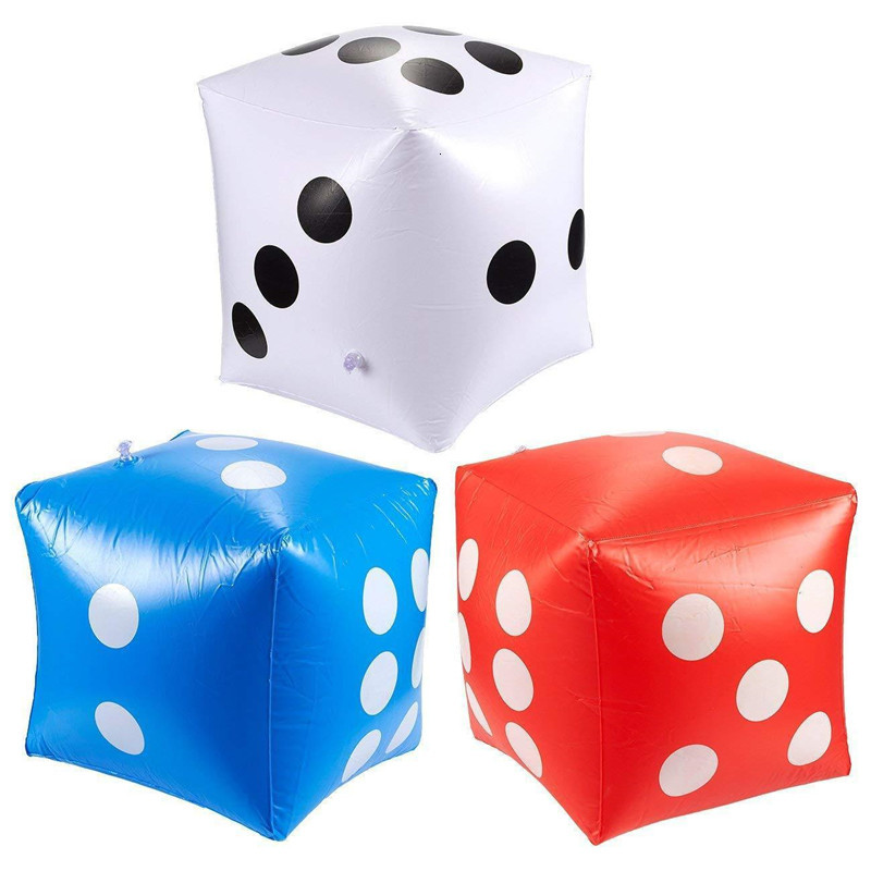 Funny Outdoor Large Inflatable Dice 30*30cm Swimming Pool Party Supplies Decorations Kids Toys For Children Adults Game Play Toy