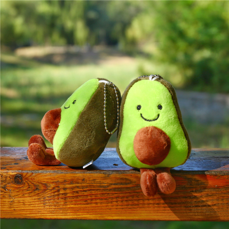 11/13cm Avocado Keychain Fruits Stuffed Plush Toy Filled Doll Key Ring Cushion Pillow Child Child Christmas Gift Girl Baby Girl