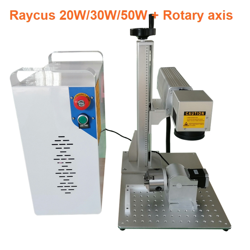 Laser Marking Machine 20W Raycus Split Fiber Laser Marking Machine Metal Marking Machine Metal Laser Engraver With Rotary Axis