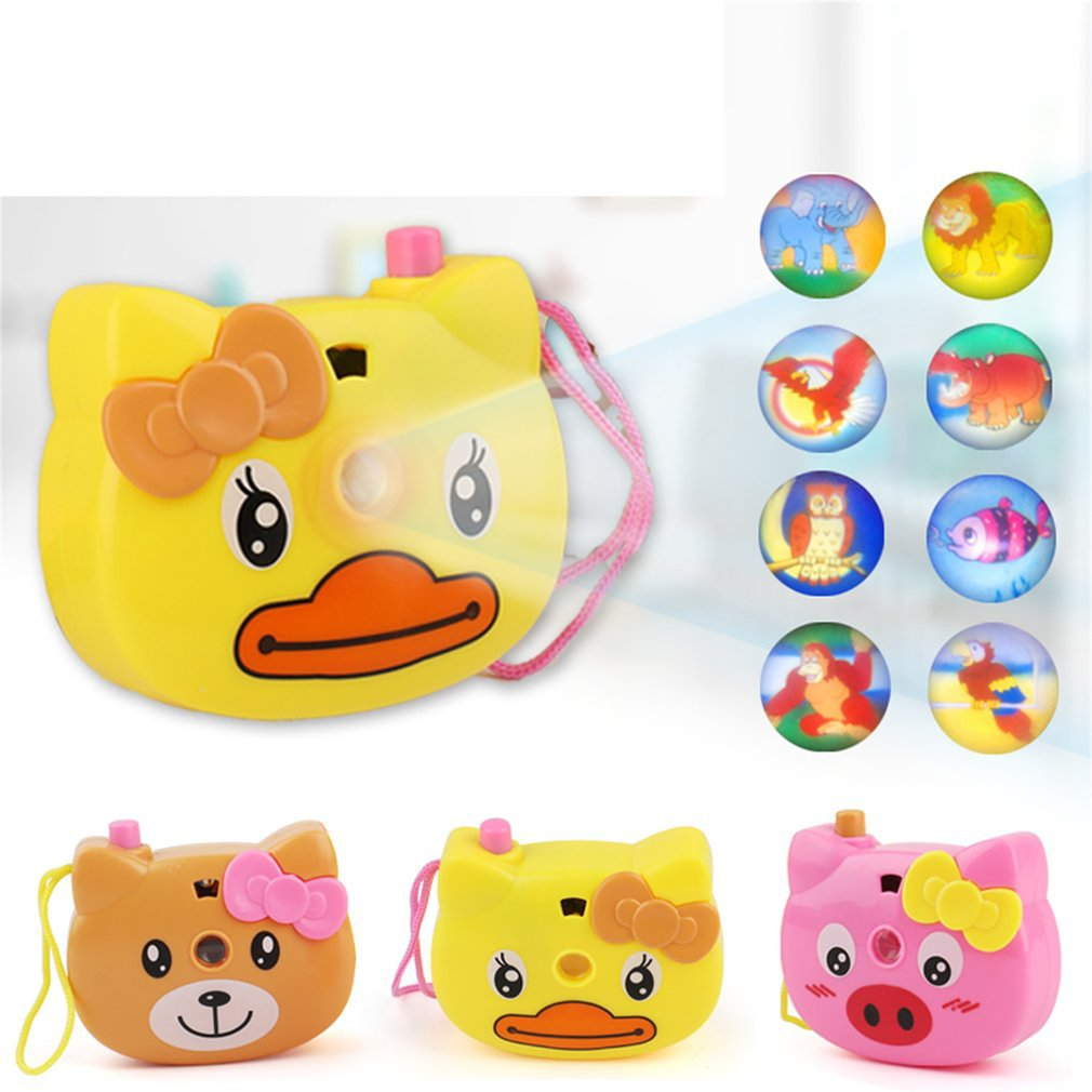 Creative Cartoon Animal Projection Camera Toy Child Glowing Camera Educational Toy Projection Camera