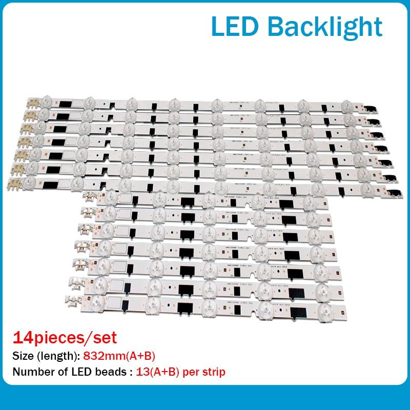 "LED Backlight Strip 13 Lamp For SamSung 40""TV D2GE-400SCA-R3 UA40F5500 2013SVS40F UE40F6400 D2GE-400SCB-R3 UE40F5000 UE40F5700"