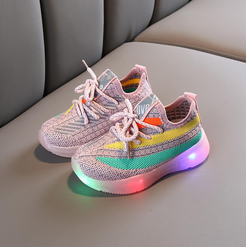 Mesh Colorful LED Sport Run Sneakers 3