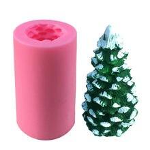 """3d Рождественская елка шоколадная силиконовая форма """"деревья"""""""
