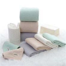 2019 new Japanese ancient woven excellent cloth cotton gauze honeycomb wash towel soft absorbent