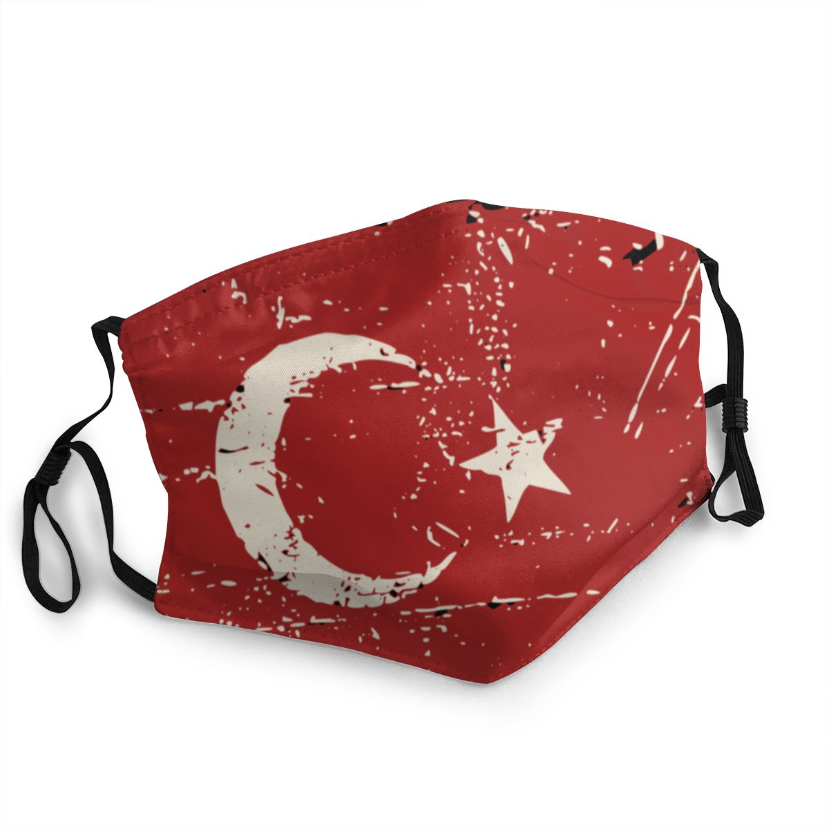 The Republic Of Turkey Flag Reusable Mouth Face Mask Anti Bacterial Dust Protection Cover Respirator