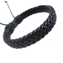1PC Rope Men Hand-woven Fashion Bracelet Bangle Surfer Multi-color Cuff Adjustable Simple Leather Unisex Charm Bracelet(China)