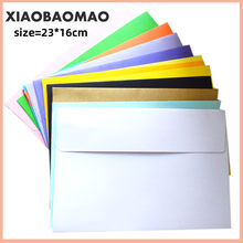 25pcs/lot Candy/Kraft Paper 14 Color Blank Envelopes 230x160mm Bank Card Envelopes Greeting Cards Envelopes membership card(China)