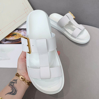 British starbagsMCQ 2020 new herringbone slippers lovers white shoes men's sandals rubber soles antiskid high quality leather