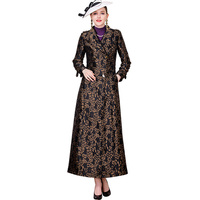 Autumn Winter Leopard Print Trench Coat for Women Jacquard X Long Outwear Luxury Turn down Collar Double Breasted Coat DZ1068
