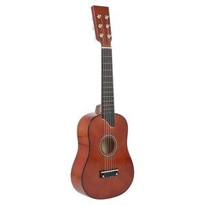 25 дюймов мини маленькая гитара из липы 6 струн акустическая гитара с струнами для начинающих детей подарок для детей