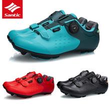 SANTIC 12 klasy karbon mtb Bike obuwie rowerowe mężczyźni PRO rower górski samoblokujący Ultralight oddychające buty Triathlon tanie tanio CN (pochodzenie) Dla osób dorosłych oddychająca wodoodporne Buty rowerowe Stretch Spandex Średnia (B M) Szerokie (C D W)