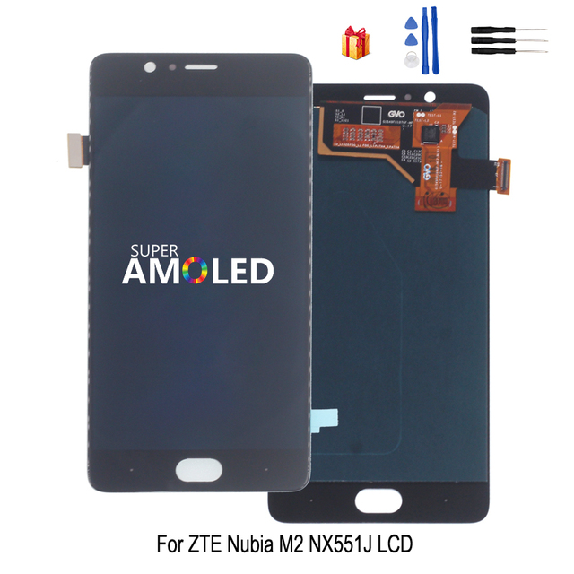For ZTE Nubia M2 NX551J LCD Display  Touch Screen Digitizer Assembly For ZTE Nubia M2 LCD Display Screen Replacement  Free Tool