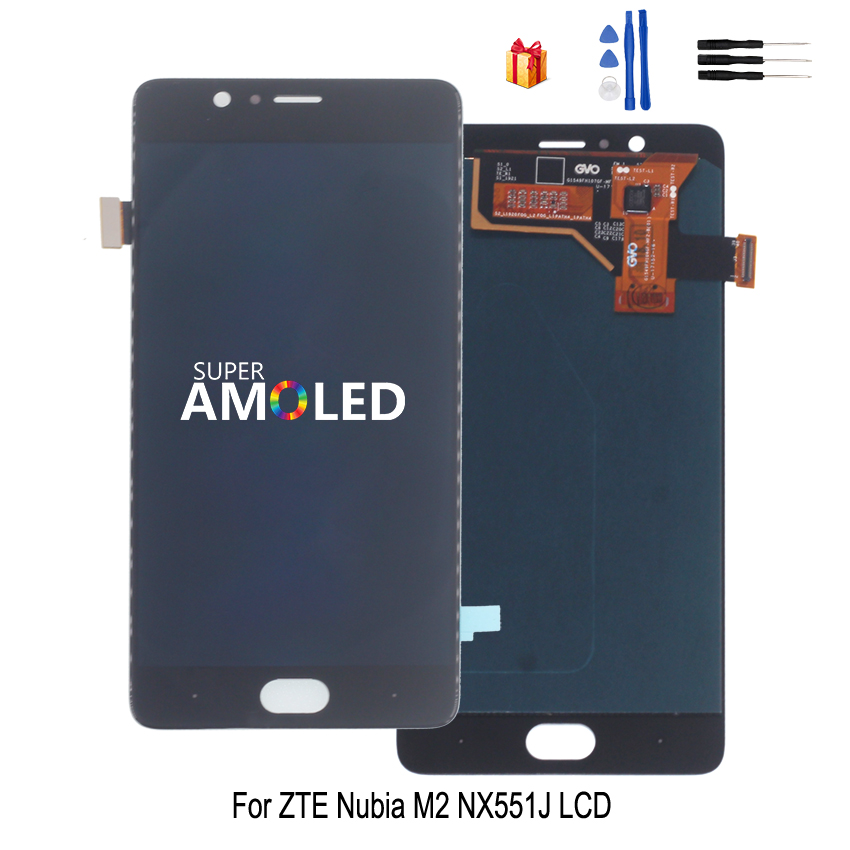For ZTE Nubia M2 <font><b>NX551J</b></font> LCD Display Touch Screen Digitizer Assembly For ZTE Nubia M2 LCD Display Screen Replacement Free Tool image