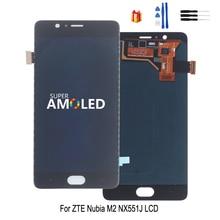 Para ZTE Nubia M2 NX551J, pantalla LCD, montaje de digitalizador con pantalla táctil para ZTE Nubia M2, cambio de pantalla LCD, herramienta gratuita