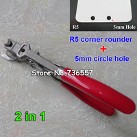 Manual r5 e 5mm redondo buraco id negócio criedit pvc cartão de papel canto perfurador perfurador perfurando cortador alicate