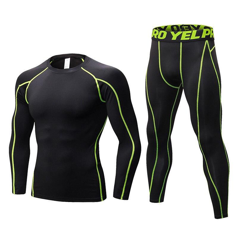 Новинка 2020, мужские компрессионные комплекты для бега, мужские трико с длинным рукавом, спортивные костюмы для фитнеса, спортивные костюмы ...