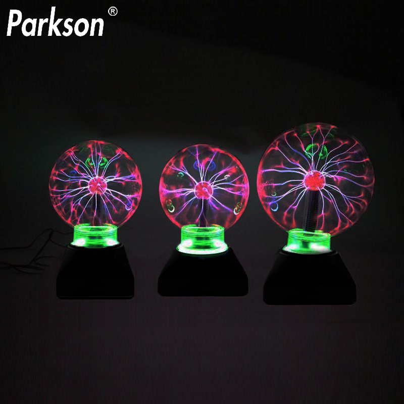 Novelty Lighting Magic Plasma Ball Lamp 3/4/5/6 Inch Night Light Lava Lamp Christmas Kids Gift Glass Lamp Decor Table Lights
