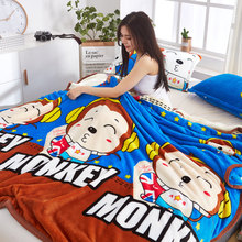 Summer Coral Blanket Office nap Thin quilt Winter thickened bed sheet flannel blanket