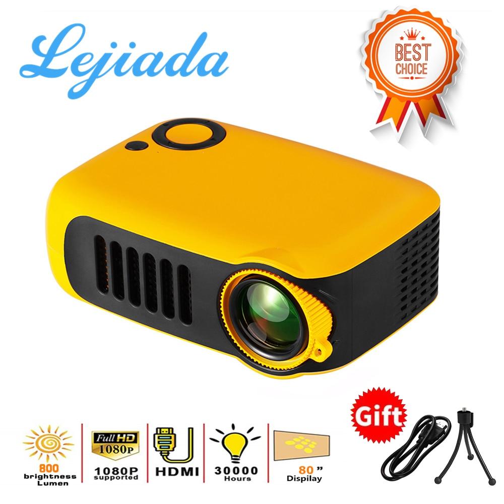 LEJIADA New A2000 Mini Projector 320x240 Pixels 800 Lumens Portable LED Home Multimedia Video Player Built-in Speaker