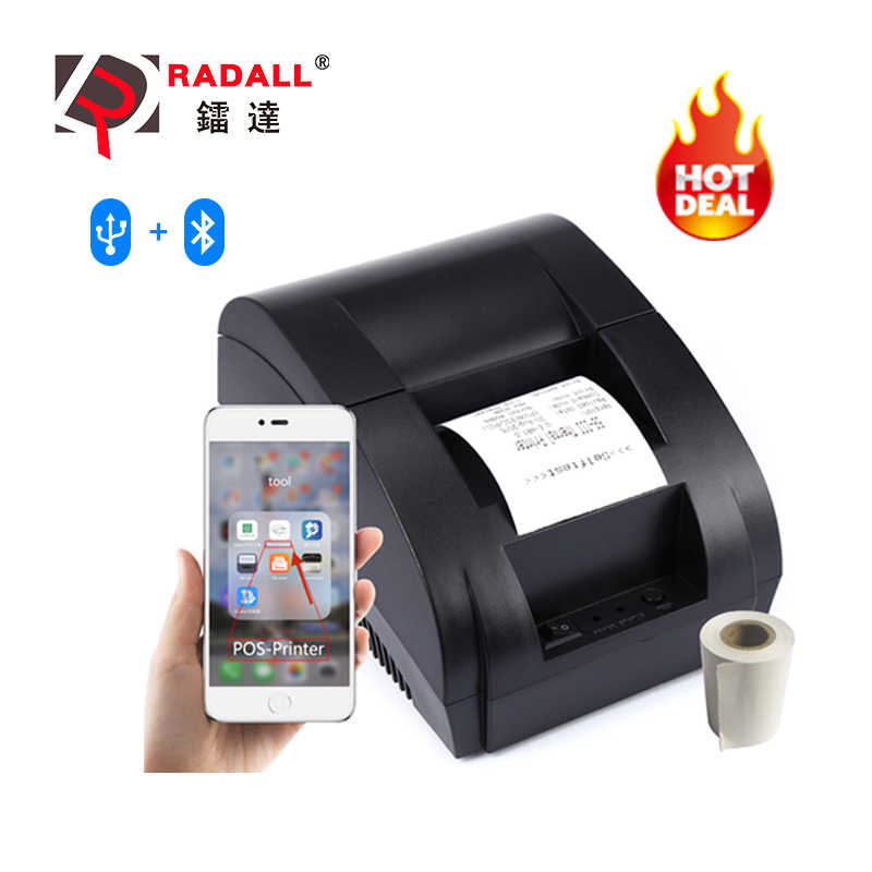 58mm Bluetooth Thermal Printer Wireless Receipt Printer Wired Bill Printer For Android Ios Mobile Phone Pos System Cash Drawer Printers Aliexpress