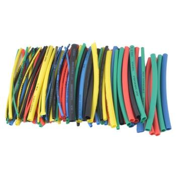 цена на 100Pcs Heat shrink tube kit Insulation Sleeving Polyolefin Shrinking Assorted Heat Shrink Tubing Wire Cable