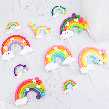 Cakesmile Rainbow collection cake topper cupcake party for baking birthday decoration  cake decorating tools baking accessories cakesmile pink deer cake topper cupcake party for baking birthday decoration cake decorating tools baking accessories