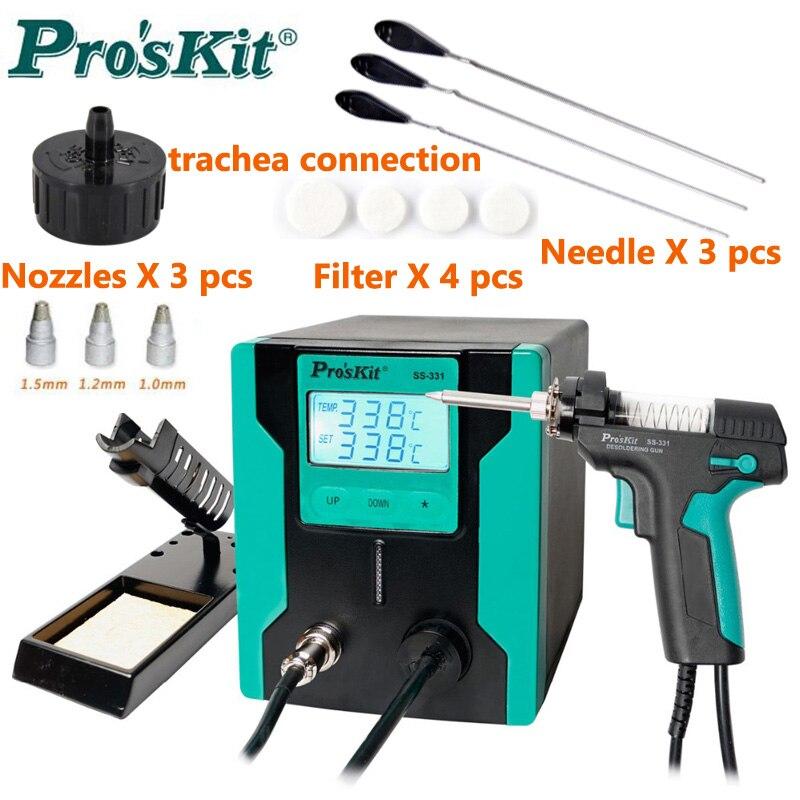 2019 Original nouvelle Version Pro'sKit SS-331H LCD pistolet à dessouder électrique antistatique haute puissance forte aspiration pompe à dessouder
