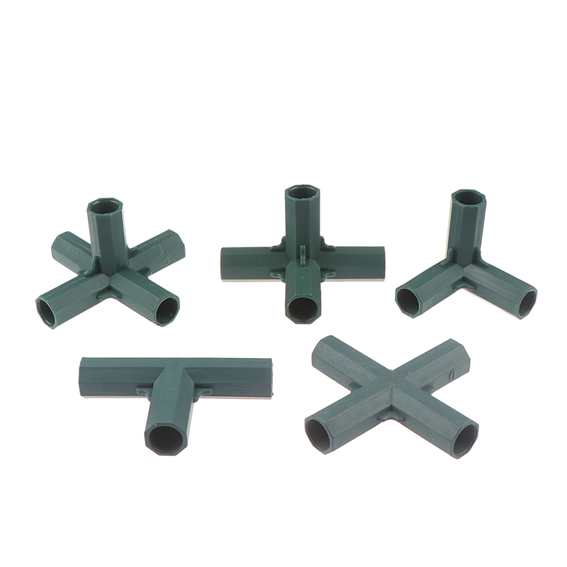 Fitting Stable Support Heavy Duty Greenhouse Frame Building Connector Right Angle 3 4 5-way Connector Garden Tool 16mm