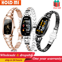 2021 H8 und H8 pro Frauen Smartwatch Herz Rate Monitor Blutdruck Smart uhr Band Fitness Tracker dame armband Armband