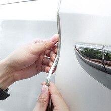 شريط واقي مضاد للتصادم لباب السيارة ، ملصق تزيين عالمي مضاد للخدش مع سطح لامع