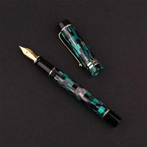 Image 2 - Pluma estilográfica celuloide Moonman M600, pluma estilográfica de Alemania Schmidt Punta fina 0,5mm, excelente caja de regalo de escritura para oficina, suministros para bolígrafos