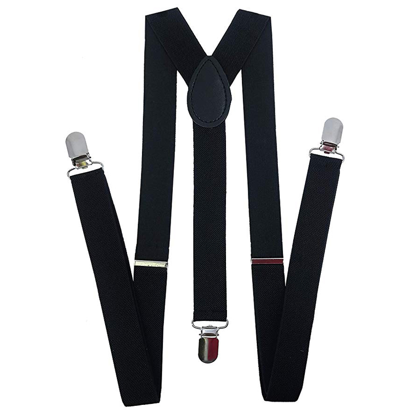 1920s Mens Accessory  Adjustable Elastic Y Back Style Suspenders For Men And Women With Strong Metal Clips