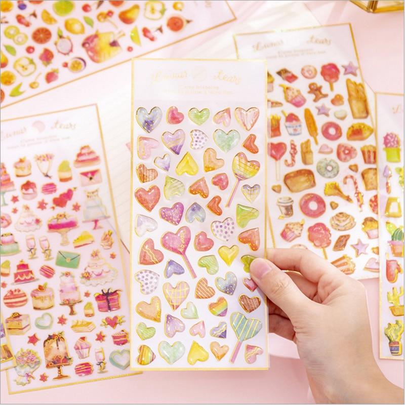 1Sheet Clear Stickers Crystal Decorative Transparent Scrapbook Diary Book Decor