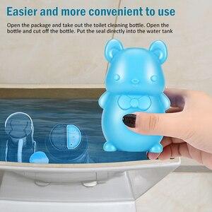 1 sztuk = 90 dni środek czyszczący do wc mysz niesamowita niebieska pianka bąbelkowa magia automatyczny środek czyszczący do spłukiwania środek czyszczący do wc s do łazienki
