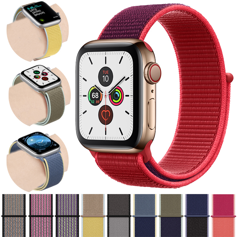 Sport Loop For Apple Watch Band 44mm 40mm 42mm 38mm Woven Nylon Correa Iwatch Strap 4 3 2 1 Watchband Bracelet Apple Watch 5 4
