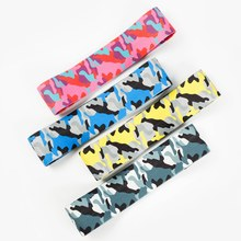Camouflage Hip Ring Yoga Fitness Anti-slip Elastic Hip Exercise Bands Soft Comfortable Squat Yoga Leg Training Resistance Band(China)