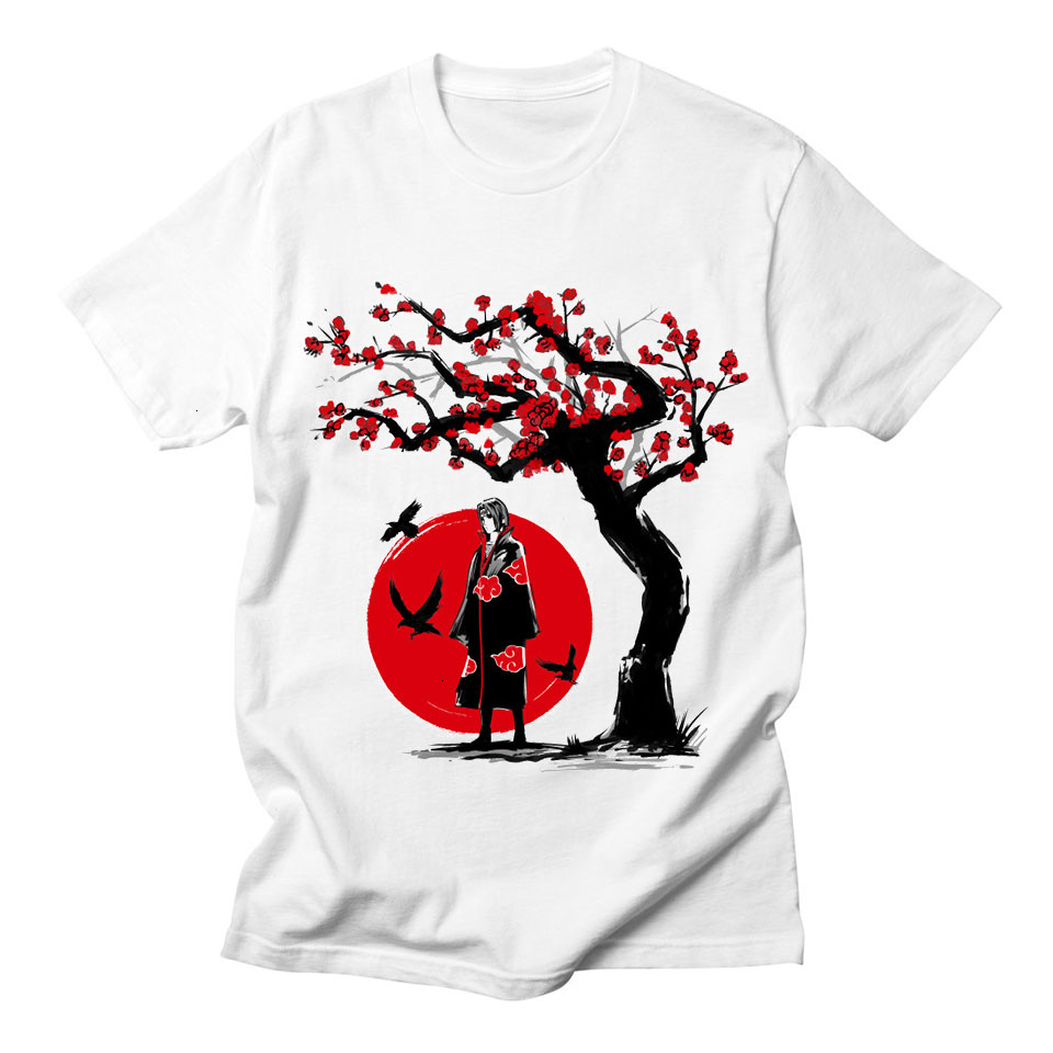 Anime Naruto Cool Tshirt Man Korean Style Vintage Punk Tumblr Short Sleeve Plus Size Cotton Streetwear Tee Shirt Men Harajuku