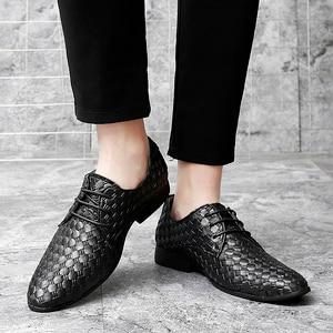 Image 3 - 2020 גברים נעליים יומיומיות עור אופנה נעלי מארג עסקי שרוכים נעלי פנאי נעלי לשכת קלאסי קלה נעליים