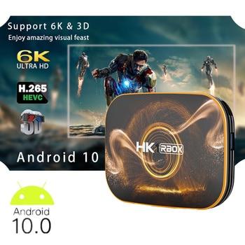 HK1 Rbox Tv Box Android 10 4k RK3318 Quad Core 4gb Ram 32gb 64gb Wifi 3D 6K Ultra HD 4K Youtube Media Player Android 10.0 Tv Box box tv android child h96 mini h6 quad core h 265 wifi hd tv box built in software youtube 4k media player smart tv iptv boxes