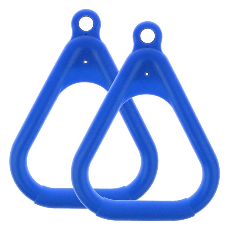 2 Piece Swing Set Replacement Ring Trapezoidal Handle Parts Children's Swing Suspension Ring Jungle Gym Accessories Blue