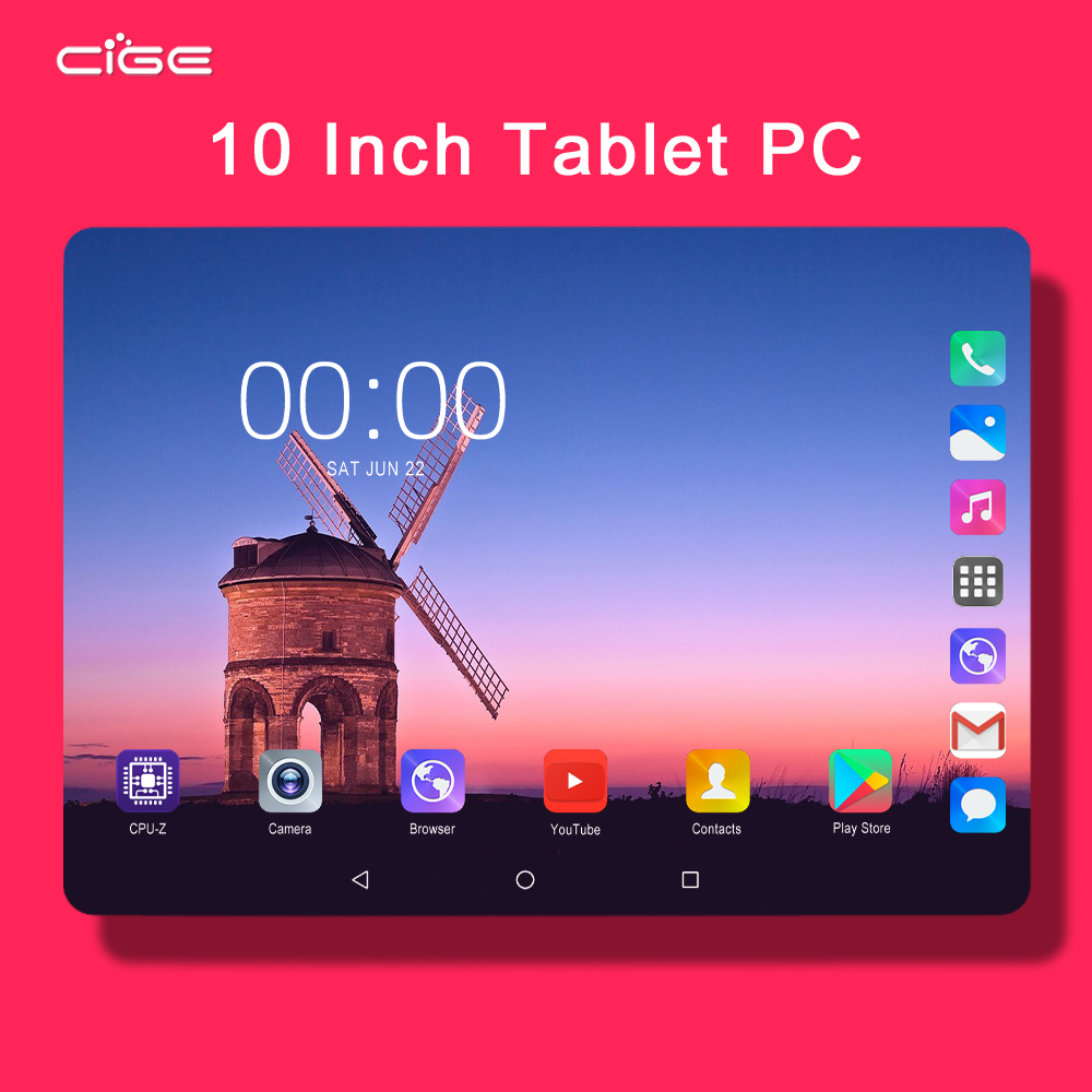 Mx960 4G LTE Phone Call 10 Inch Android 9.0 Tablet PC 6 GB RAM 128GB ROM IPS Screen HD 1280x800 WiFi Tablets PAD TAB 10.1